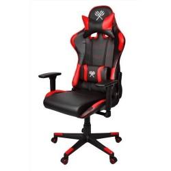 Herní židle červeno černá LED